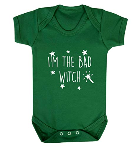 Flox Creative Baby Vest I'm The Bad Witch - Vert - XS