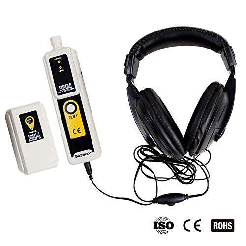 ALLOSUN Ultrasonic Leak Detector & Transmitter Air Water Dust Leak Pressure with Headphone Accessory Kit LED Indication