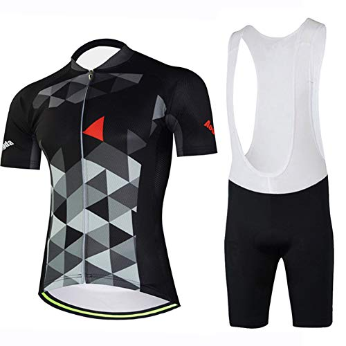 TZTED Ciclismo Maillot Hombres Jersey + Pantalones Cortos Culote Mangas Cortas de...