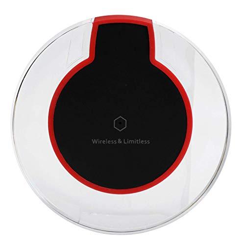 Cargador de teléfono inalámbrico, estación de carga portátil Qi para teléfono móvil, plataforma de carga inalámbrica, compatible con carga inalámbrica Qi