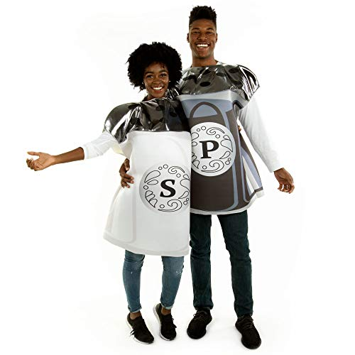 Salt and Pepper Halloween Couples Costume - One-Size Funny Adult Food Costumes