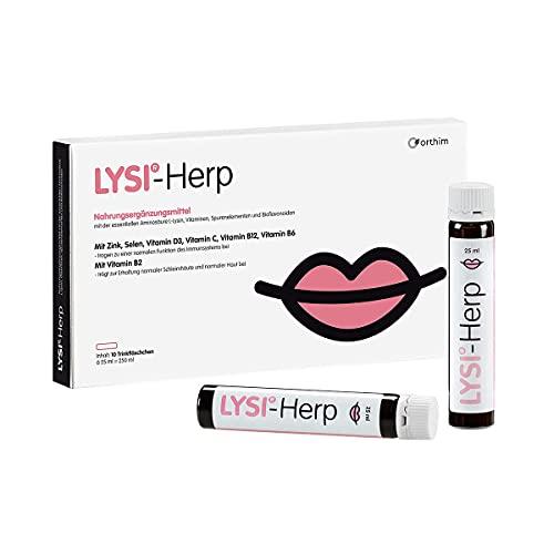 LYSI®-Herp - Trinkfläschchen mit 2000 mg L-Lysin, Vitaminen B2, B6, B12, C, D3, Spurenelementen und Bioflavonoiden