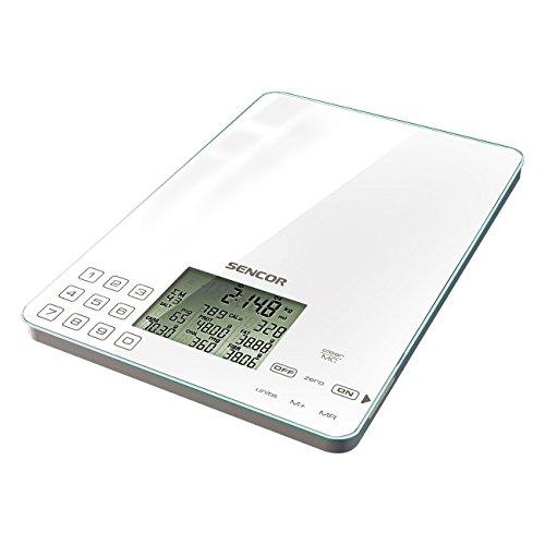 SENCOR SKS 6000, Küchenwaage Diät, Weis