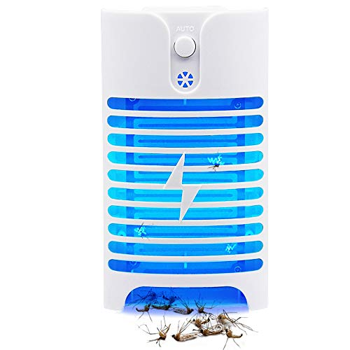 Lulu Home Electric Bug Zapper, Indoor Plug-in Mosquito Zapper with 400nm Light, Insects Trap Mosquito Killer for Bedroom Kitchen Office