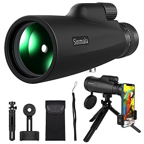 Monocular, 10-30x50 HD Monocular Impermeable monoculo telescopio portatil para Viajes de Caza,...