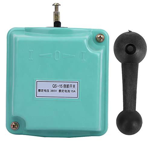 Interruptor de tambor de marcha atrás hacia adelante - QS-15 380V 15A Interruptor de tambor de marcha atrás hacia adelante Interruptor de cambio de motor de marcha atrás