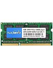 TECMIYO 2RX8 4GB PC3L-12800S DDR3/DDR3L 1600MHZ Sodimm DDR3L-1600 PC3-12800 CL11 1.35V/1.5V 204Pin Non-ECC Unbuffered Laptop Memory RAM Module for Mac Intel and AMD System