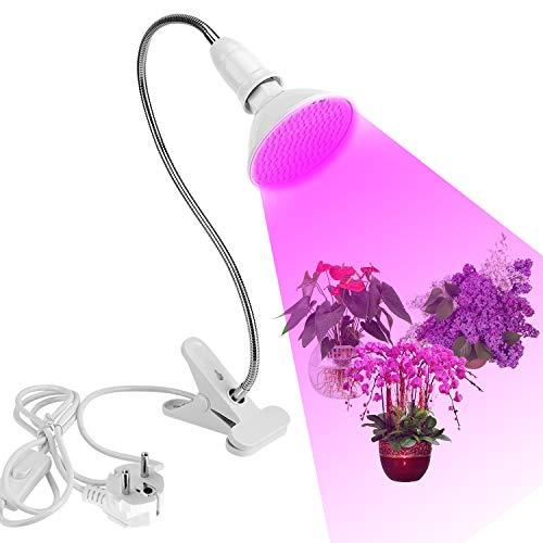 LED Grow Light, 200LEDs Lámpara LED plantas Espectro completo Cuello de cisne flexible, Lámpara de Cultivo de Plantas Iluminación Hortícola, para Plantas de Interior Verdura Flores