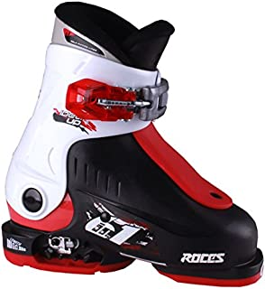 Roces 2016 Idea Adjustable Black/White/Red Kids Ski Boots 16.0-18.5