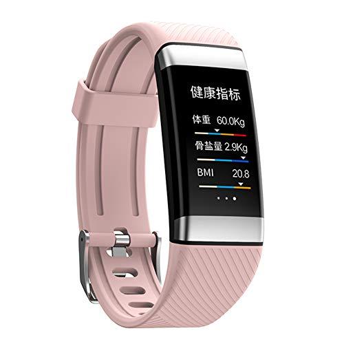 YINING wasserdichte Körperfett Sport Fitness Tracker,Pulsmesser,Aktivität Schlaf Tracker Smart Reminder,Kompatibel mit iPhone Android,Geschenk für Frauen,Männer und ältere Menschen