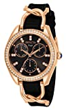 Invicta Women's Angel Quartz Watch with Stainless Steel Strap, Black, 17 (Model: 31207)