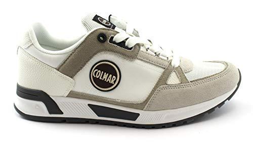 Colmar Supreme PRO Mono White Bianco Scarpe Uomo Sneakers Lacci Pelle 45