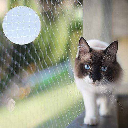 Red de seguridad para gatos, extragrandes de 8 m x 3 m, red protectora transparente para gatos, red antiescape, red de seguridad para balcón y ventana