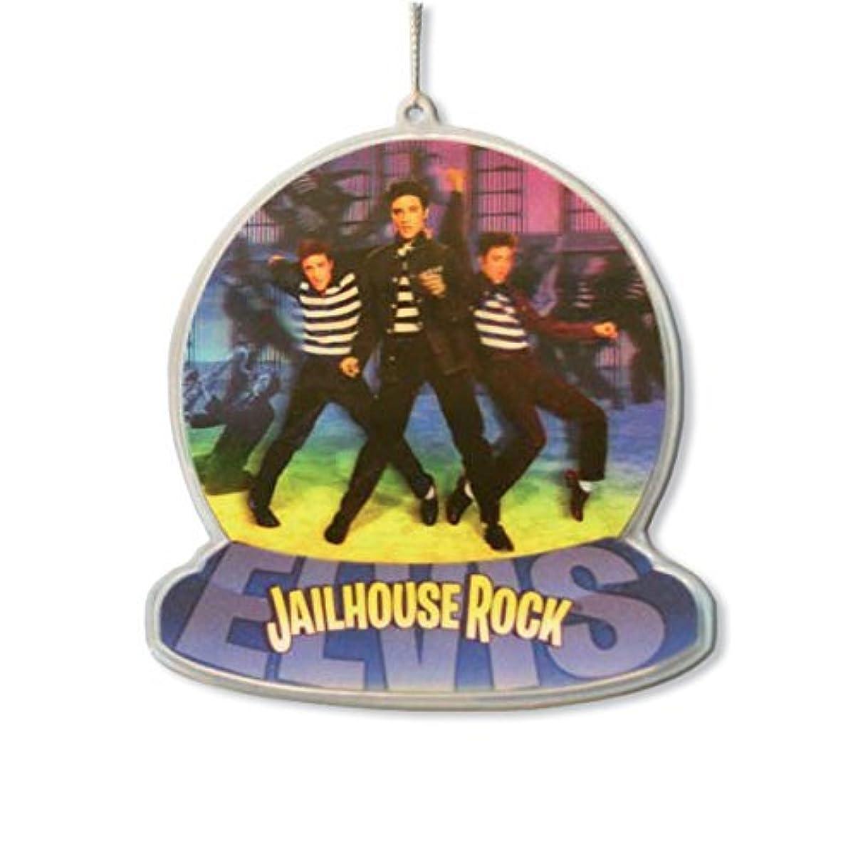 パンフレット試用シールドエルヴィス?プレスリー JAIL HOUSE ROCK クリスマス オーナメント 飾り 装飾 【ロンドン直輸入オフィシャルグッズ】
