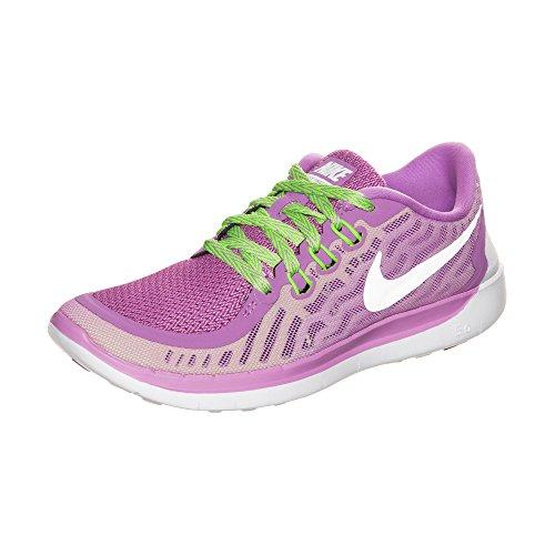 Nike Unisex-Erwachsene Free 5.0 (Gs) Krabbelschuhe, Violett (Flieder/weiß), 38 EU