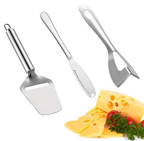 FansQ 3 Käsemesser-Werkzeugsätze, Käsekäse-Butter-Spatel, Käsewürfelmesser, Lochspatel, Brotmarmeladenmesser und Avocado-Spatel