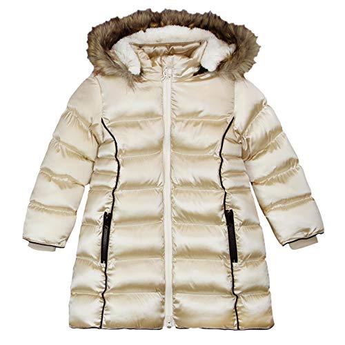 boboli Technical Fabric Parka For Girl Abrigo, Dorado (Gold), 122 (Tamaño del Fabricante:7) para...