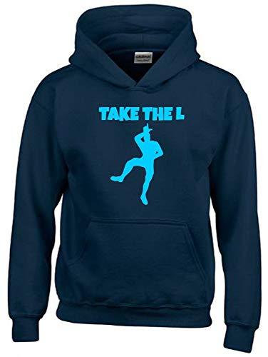 TAKE The L Hoodie Sweatshirt mit Kapuze Navy-Sky Gr.164 cm