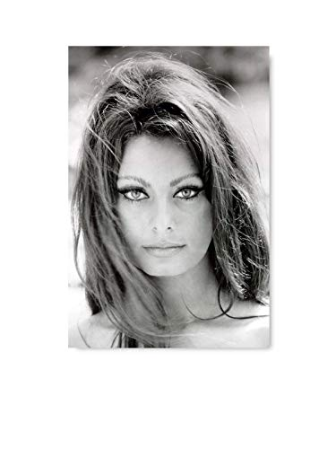 Funny Ugly Christmas Sweater Cute Sophia Loren Monochrome Decor Gifts Sophia Loren Classic Portrait Sofia Loren Unframed Printed Poster Italian Retro Wall Art Old Movie 24' x 36'