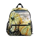 Piccolo Sacchetto di Scuola Zucca Squashes Zaino per Ragazza Ragazzo Bambini Mini Viaggio Daypack Primario Studente Prescolare Bookbag