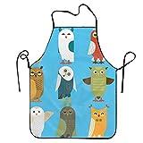N\A Grembiuli Alla Moda per Donna Grembiuli per Bambini Ragazza Gufi Cartone animato Simpatico uccello Set Personaggio gufo Cucina Donna Grembiuli