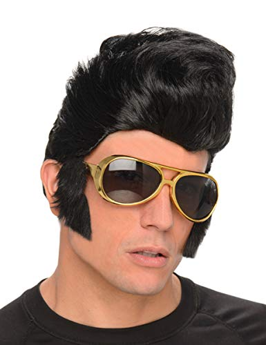 Generique - Peluca rockero Hombre con Gafas