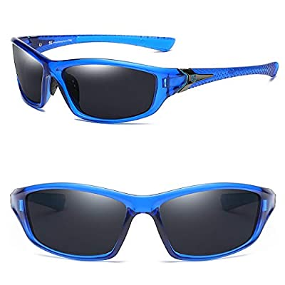 Sougayilang Polarized Sport Sunglasses for Men and Women,Ideal for Driving Fishing Cycling and Running,UV Protection-C8