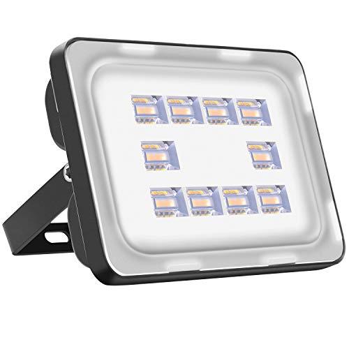 LED Strahler Außen 30W LED Beleuchtung 2100LM LED Lampe Scheinwerfer 2800K-3200K Warmweiß IP65 Wasserdicht LED Strahler Außen für Hof Garten, Garage, Werbetafeln, Stadien, Plätze, Fabriken
