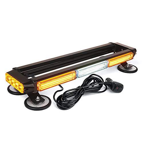 Xprite White Amber COB LED Rooftop Strobe Flashing Light Bar Double Side 21