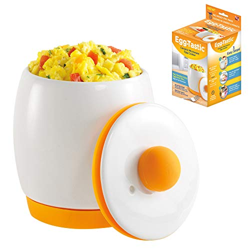 Egg-Tastic Ceramic Microwave Egg Cooker and Poacher for Fast, Fluffy, Flavorful Eggs