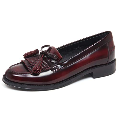 Tod's F3296 Mocassino Donna Bordeaux Scarpe Loafer Shoe Woman [35]