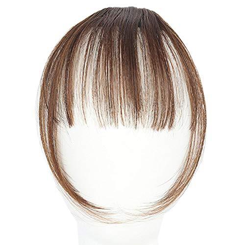LovePlz Femmes Mode Mini Air Bangs Frange Synthétique Faux Cheveux Extension Postiches Perruques De Cheveux pour Les Femmes pour La Maison en Plein Air Cheveux Accessoires Brun Clair