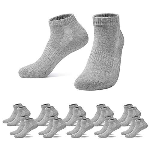 Falechay Sneaker Socken Herren Damen Sportsocken 10Paar Halbsocken, 43-46, 10*grau