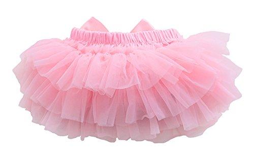 コ Co-land コ-ランド Co-land ベビー ブルマ 女の子 おむつカバー ショートパンツ 赤ちゃん 可愛い チュール リボン飾り ヘアバンド付き S ピンク