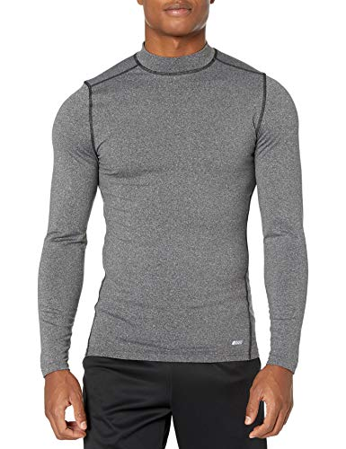 Amazon Essentials Control Tech – Camiseta térmica de Manga Larga para Hombre, Carbón Heather, Small
