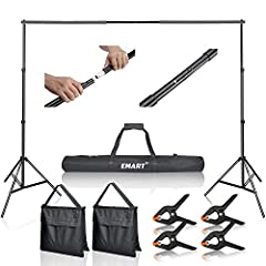 Kit included: (2) x Adjustable Crossbar, (2) x Light Stand, (4) x Heavy Duty Spring Clamp, (2) x Sandbag, (1) x Convenient Carry Bag. / 12 Months warranty for manufacturing defects. Backdrop Stand Kit, professional lightweight pipe and drape support ...