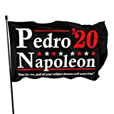 AOOEDM Bandera Decorativa Bandera de jardín Napoleon Dynamite 2020 Election Vote for Pedro Flag 3x5 Feet Sturdy, Durable, Indoor/Outdoor, Garden, Brass Grommet, High-Level Flag Without flagpole