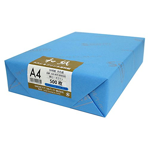 SAKAEテクニカルペーパー OA和紙 厚口 大礼紙 A4 ホワイト 500枚 A4-WA-WN500