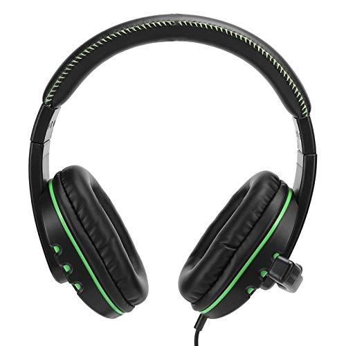 Demeras Professioneller Gaming-Kopfhörer mit kabelgebundenem 3,5-mm-Kopfhörer und Mikrofon 3D-Headset zur Rauschunterdrückung mit Surround-Sound