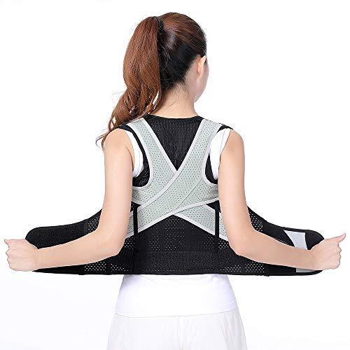 YFWJD Corrector De Postura De Espalda Stealth Ligero Y Transpirable Mejora La Postura Y Proporciona Soporte Lumbar Sentado Cinturón De Corrección,XXXL
