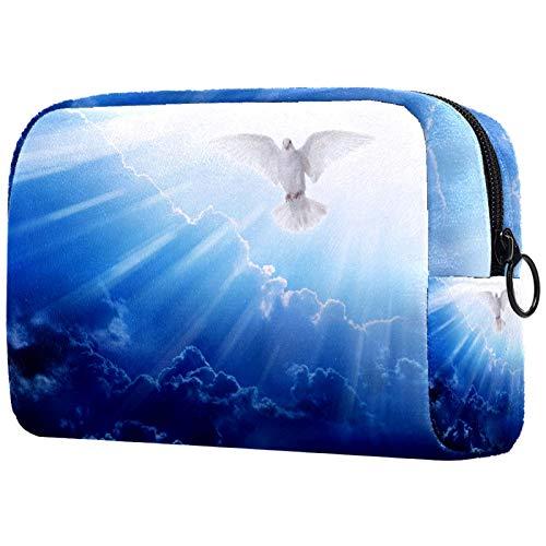 Kosmetiktasche Womens Makeup Bag Für Reisen zum Tragen von Kosmetika wechseln Sie die Schlüssel usw.,Pfingsten Heiliger Geist Taube