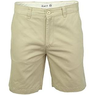 Xact Chino Shorts Mens Soft Feel Cotton Fashion Garment (Stone) 40