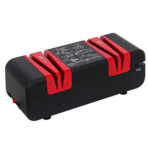 Ritioner Afilador de cuchillos eléctrico, Afilador de cuchillos 60W 50Hz para destornillador doméstico, Cuchillo a presión, Afilador de cuchillos profesional