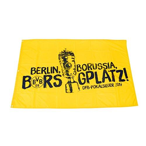 Borussia Dortmund BVB-Hissfahne zum DFB-Pokalsieg 2017 (100x150 cm) one Size