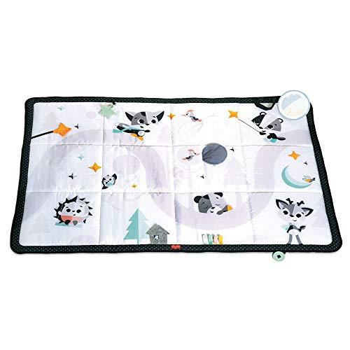 Tiny Love Super Mat Black and White Tappeto Morbido per Bambini e Neonati, tappeto gioco imbottito grande 150 x 100 cm, pieghevole, multifunzione, Bianco e Nero