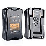 SOONWELL 98Wh V-Mount Batería 6600mAh V-Lock Batería con Puerto D-Top y USB para Videocámara y...