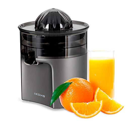 IKOHS Create Juicer Easy - Exprimidor Eléctrico de Naranjas y cítricos, 40 W, Apto para lavavajillas, grisfrecuencia 50-60Hz, Libre de BPA, Cono exprimidor, Filtro de Pulpa, diseño Exclusivo