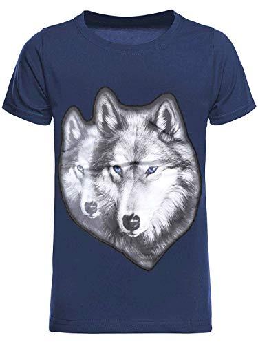 BEZLIT Kinder T-Shirt Jungen Shirt Kurzarm T-Shirts LED Licht Effekt 30038 Blau 140