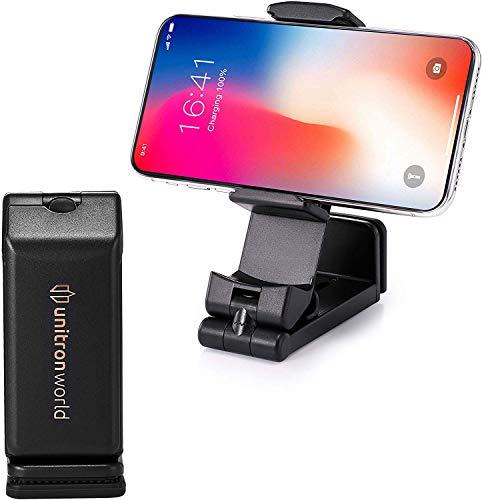 Unitron world 携帯電話スタンド ポータブル電話ホルダー デスク 飛行機 フライトベッド用 調節可能 iPhone 12 Pro Max Mini SE2 11 X XS MAX XR 8 7 Android 携帯電話 Pixel Samsung Galaxy Note