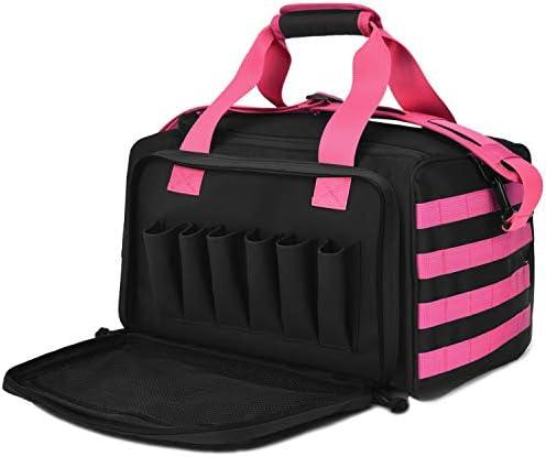 Tactical Gun Shooting Range Bag Deluxe Pistol Range Duffle Bags Pink product image
